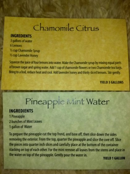 Flavored Water Recipes from Atlantis Spa